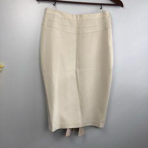 Original stretch canvas pencil skirt - beige